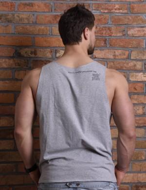 Gray tank top for men