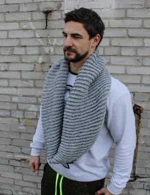 First Shade of Gray Infinity Scarf