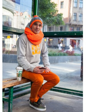 Clockwork Orange Infinity Scarf
